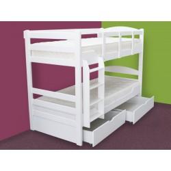 K3 – krevet na sprat-sa fiokama-beli